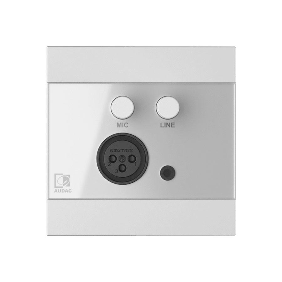 Hoofdafbeelding van Audac - WP210/W - mic/line wandpaneel - wit